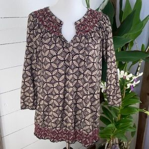 Lucky Brand Pre Loved Tunic XL Long Sleeve